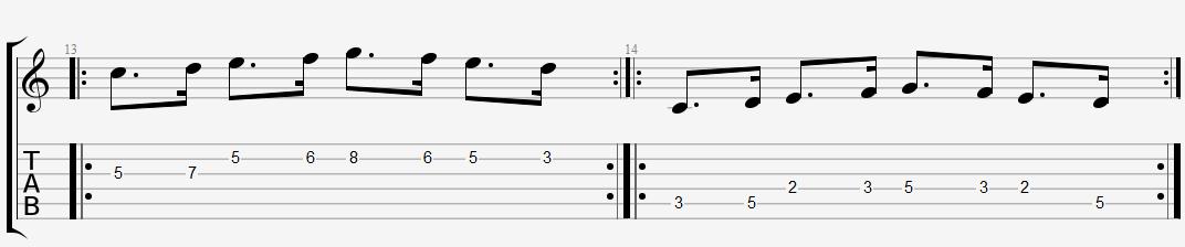 Нота с точкой пунктирный ритм